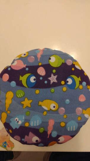 梦马儿童厚帆布飞盘 幼儿园手工软飞碟练习系扣子沙包早教玩具 小鱼 晒单图