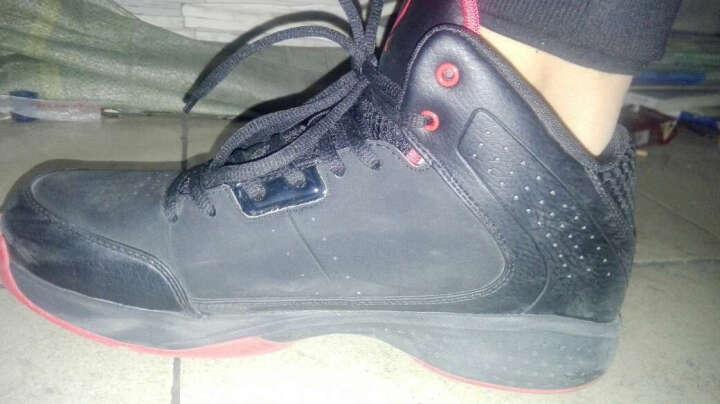 乔丹篮球鞋男鞋新款运动球鞋飞人高帮防滑耐磨战靴科比12罗斯9毒液 白色/黑色1 43 晒单图