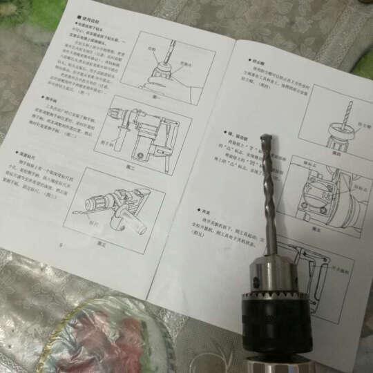 威锐特多功能家用铝头电钻冲击钻手枪钻迷你电锤带正反转无极调速可当螺丝刀电钻套装 铝头+箱+钻头切磨套 晒单图