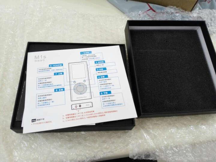 aune M1S DSD硬解 MP3 HiFi 32Bit无损音乐播放器 便携式耳放随身听 黑色 Black 碳黑色 标配 晒单图