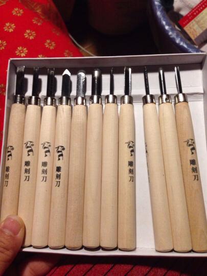 啄木鸟木刻雕刀雕刻刀套装木工工具橡皮印章手工刀 12件套刻刀 (PM132) 晒单图