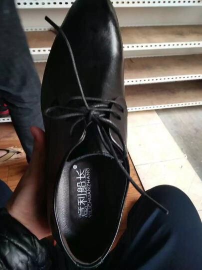 意利船长 男士皮鞋 男鞋男士正装鞋低帮潮流商务休闲鞋婚鞋英伦S-8233 S-8233棕色 39 晒单图