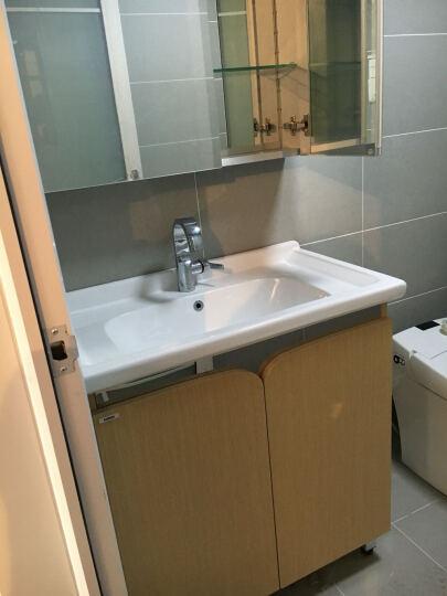 摩恩(MOEN) 洛奇系列浴室柜套餐卫生间浴室柜镜柜一体套餐组合卫生间水盆洗手盆80cm柜子 橡木色+精铜龙头+70cm镜柜(防雾+LED) 晒单图