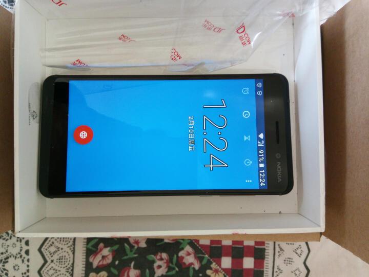 诺基亚6 (Nokia6) 4GB+32GB 银白色 全网通 双卡双待 移动联通电信4G手机 晒单图