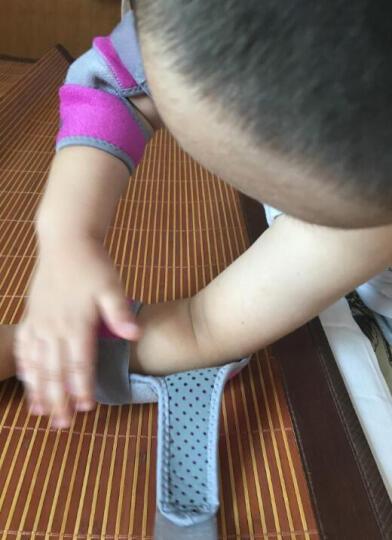 奥力克斯(AOLIKES)儿童护肘运动跳舞滑冰骑行足球防摔撞护臂舞蹈护具硅胶防滑男女 玫红色夹灰一付 均码调节款适合肘围18-24厘米 晒单图