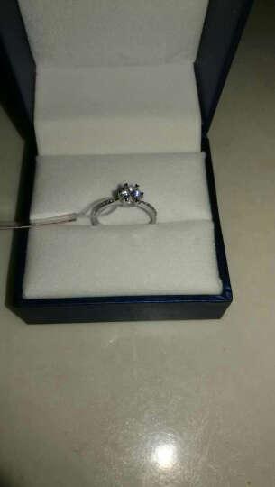 恒久之星(FOREVERTAR) 一钻三证GIA裸钻30分50分一克拉钻石裸钻戒求订结婚戒 70分-G色-SI1-3EX 晒单图