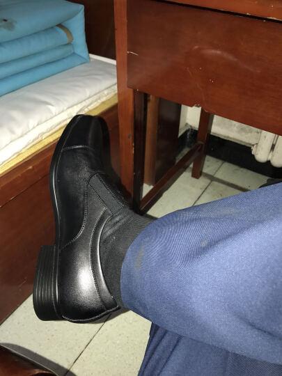 3515强人男鞋商务休闲皮鞋07校尉军鞋三接头制式皮鞋正装鞋耐磨男单鞋 CF-07 松紧款 黑色CF-07B 40 晒单图