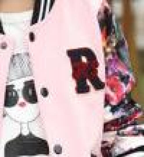 迪士尼 2018春款童装 女童外套 韩版大儿童上衣 男童休闲保暖外衣 宝宝卡通兄妹装 粉色迷彩 110CM 晒单图