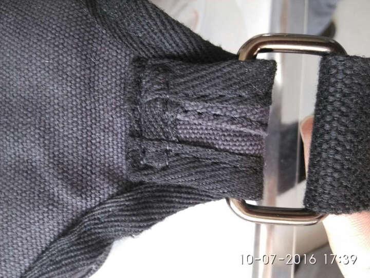 摩尔卡登新款韩版帆布男包 休闲男女户外运动胸包 潮流男腰包 卡其色套餐 晒单图