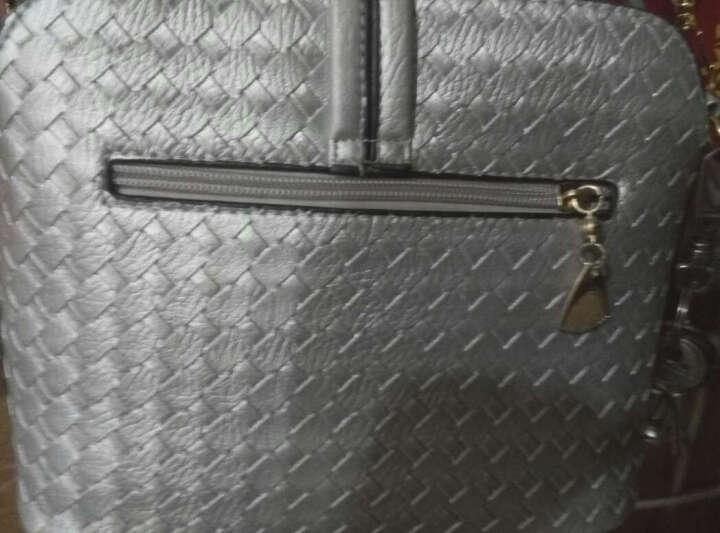 东芭 2017新款时尚单肩包潮流糖果色单肩斜跨女士包包斜挎小包 元扣锁(银色) 晒单图