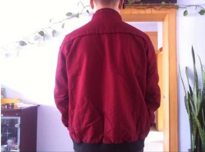 神州骆驼夹克男外套 2017秋冬新款 男士休闲外套 男装上衣 酒红 XXXL/185 适合150到165斤 晒单图