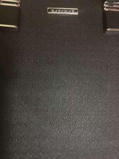 NABOWAN男士商务公文包手提电脑包单肩斜挎包 黑色横款 晒单图