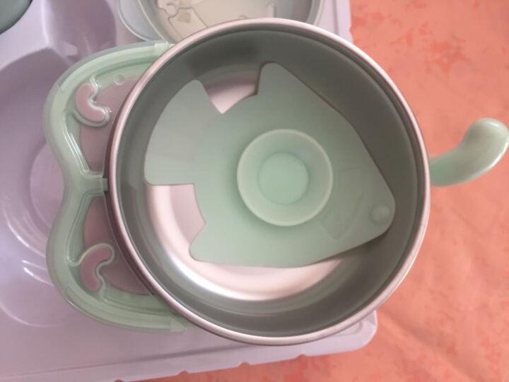 babycare 儿童餐具宝宝餐具注水保温碗婴儿碗 宝宝训练套装餐具水杯吸盘碗 水果薄荷绿三件套(316材质) 晒单图