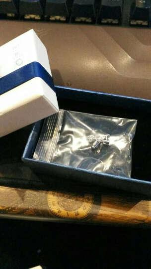 瑞诺925银男士耳钉男女款单只潮男时尚韩版三角耳环耳饰情人节礼物送男友 三角蓝色款 单个价 晒单图