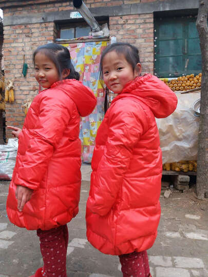 笛莎女童羽绒服冬装品牌童装女童甜美公主风外套舒适百搭中长款914 黑色 130 晒单图
