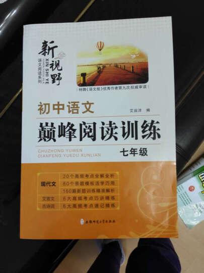 【送2样实】2018初中语文巅峰阅读训练-七年级/7年级现代文文言文古诗词初一语文专项阅读 晒单图