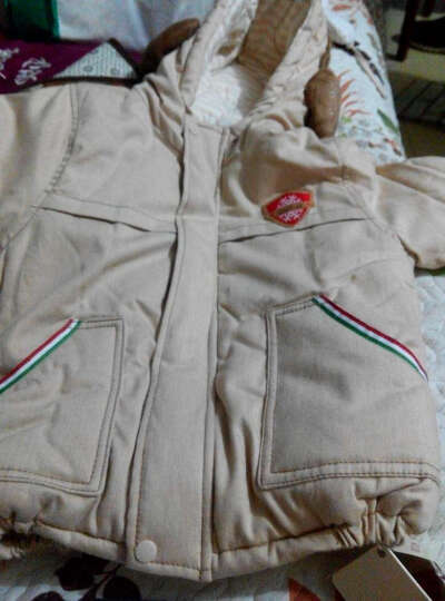 威尔贝鲁 童装彩棉 棉衣棉服 0-3岁男女宝宝带帽棉袄棉衣 秋冬厚棉款 点点款 100 晒单图