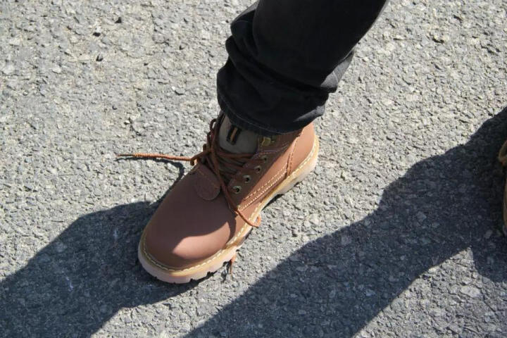 carme cat男靴马丁靴真皮工装靴冬季保暖棉鞋棉靴雪地靴户外工作鞋潮流男靴高帮男鞋棉靴 暗棕色 44 晒单图