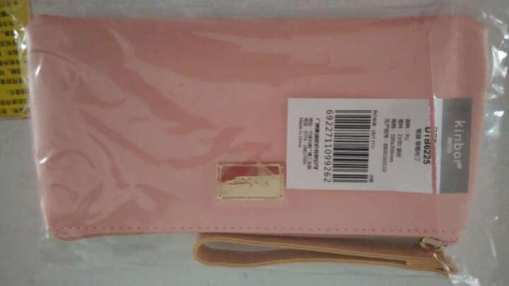 kinbor皮面文具袋铅笔袋化妆包手拿收纳包/草莓布丁DTB6225 晒单图