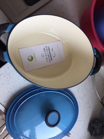 意彩 (ecohouse)椭圆形珐琅铸铁锅搪瓷汤锅经典家用焖烧锅电磁炉通用烹饪锅具 厨具 天空蓝 29cm 晒单图