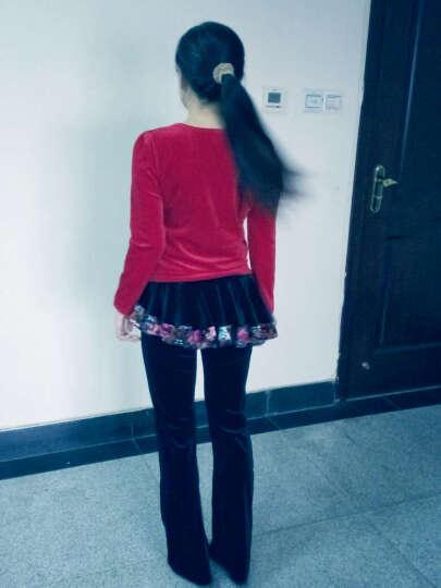 琳奈美(Linnalm) 广场舞服装新款套装长袖金丝绒裙裤中老年跳舞衣演出服秋季 大红两件套(上衣+大红裙) XXL(偏小 请选大一码) 晒单图