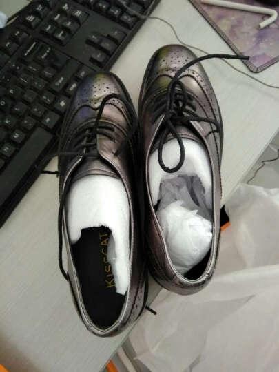 KISSCAT接吻猫 新款休闲深口女单鞋通勤女鞋单鞋女DA76495-51 黑色 34码 晒单图