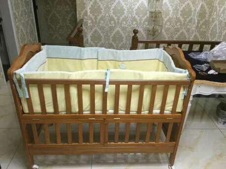 贝乐堡 婴儿床维多利亚的秘密欧式多功能实木儿童床可变大人床虫眼做旧效果赠送加长床邦 胡桃色裸床 晒单图