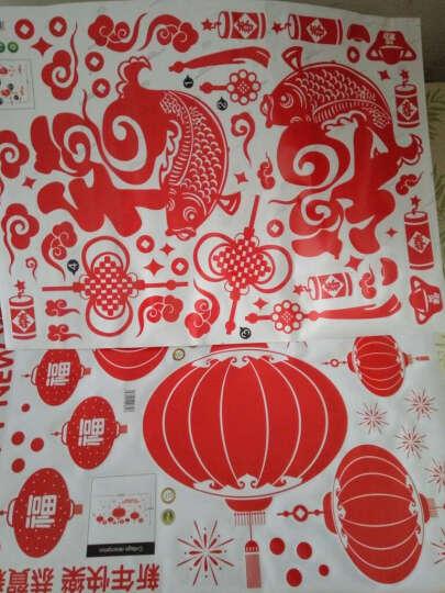 麦朵 新年装饰品墙贴画橱窗玻璃贴纸窗花门贴春节过年布置喜庆灯笼福字 9.新年娃娃年年有余 晒单图