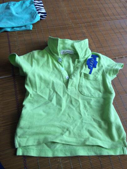 印象童年童装新款男童短袖上衣IK品牌儿童Polo衫宝宝休闲夏装 绿色 90建议身高80cm-88cm左右 晒单图