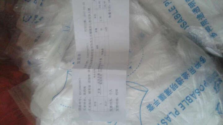 欧客欣(AUKEWIN) 手套 一次性手套 pe薄膜塑料手套 美容美发 100只/包 加厚款 晒单图