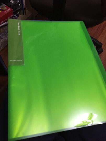 得力(deli)5015 彩色半透镜面超透内页A4资料册/文件册/文件袋-40页 绿色 晒单图