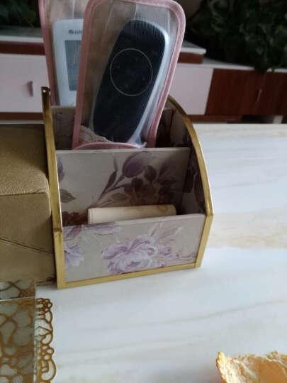 怡诺 遥控器收纳盒 桌面手机小物件收纳盒整理盒 紫色韵味 晒单图