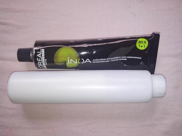欧莱雅(LOREAL) 伊诺雅染发剂 植物天然染发霜 无氨染发膏 自然黑染膏 黑色多色 1号--天然深黑色 晒单图