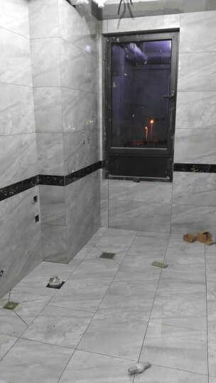 圣亚高瓷砖 现代简约客厅大理石瓷砖地砖800x800卧室防滑地板砖电视背景墙灰色磁砖 云灰石 400*400 晒单图