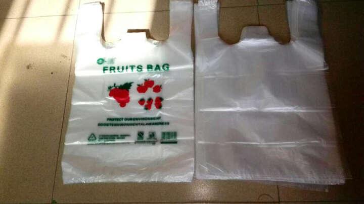 白色食品保鲜袋透明大中小号加厚塑料手提背心购物方便马夹饭店打包外卖水果垃圾袋 红色 宽26CM*长42CM 50个/打 晒单图