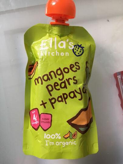 英国艾拉厨房Ella's Kitchen有机水果泥混合泥 4个月以上进口宝宝辅食零食 芒果香梨木瓜(浅绿) 晒单图