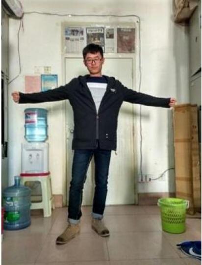 爱洛斯汀堡风衣男春装港风中长款服大衣韩版修身头号青年潮流男士连帽薄款外套衣服男装 764酷黑色 XL(建议体重140-160斤) 晒单图
