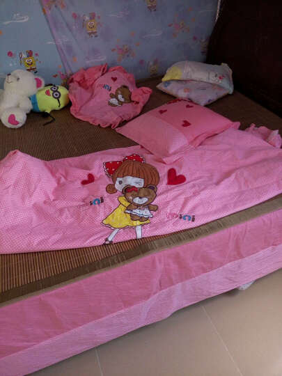 晶玺 四件套床品套件儿童学生单双人卡通纯棉床上用品三件套 火车之旅 小规格1.2或1.35米床【1枕套+1抱枕套】 晒单图