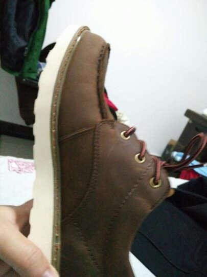 走索(Z.Suo)工装鞋男低帮大头鞋英伦男士休闲皮鞋 棕疯马色 43  皮鞋码 晒单图