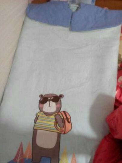 龙之涵(LONGZHIHAN) 婴儿睡袋 秋冬加厚款宝宝睡袋 四季通用儿童睡袋中大童防踢被 安睡熊-蓝 60*100(春秋薄款) 晒单图