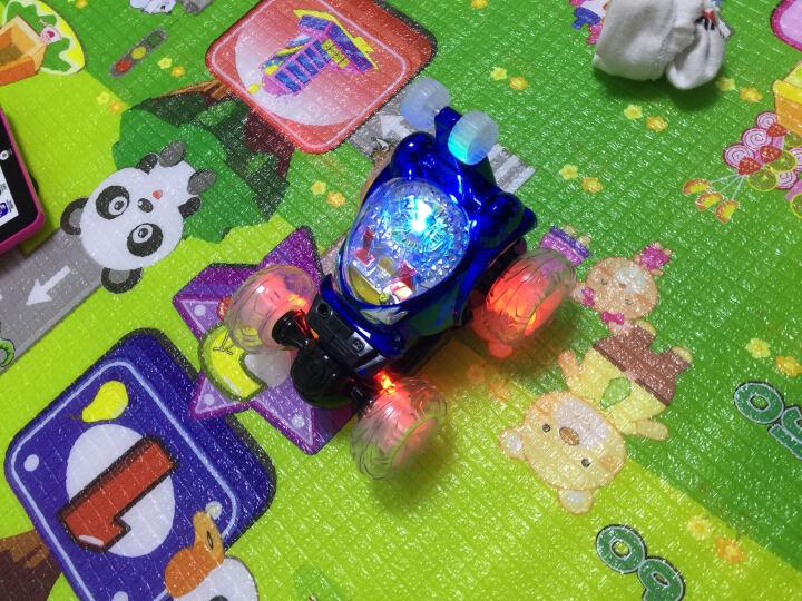 活石 儿童玩具车遥控车翻斗车充电音乐遥控汽车特技车男孩玩具六一儿童节礼物 伸缩版28CM红-重力感应方向盘 晒单图