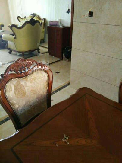 简右家具  欧式实木餐椅  美式橡木雕花椅子 餐厅吃饭凳子 酒店餐椅休闲椅 边椅-不带扶手 晒单图