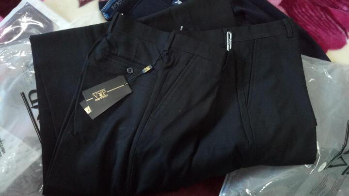 花花公子贵宾西裤男士修身商务休闲直筒黑色正装职业西装裤 藏青厚款wxk663223 34(2尺7腰围) 晒单图