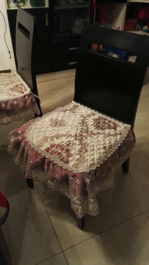 椅套欧式西餐桌椅坐垫椅子垫防滑布艺可固定