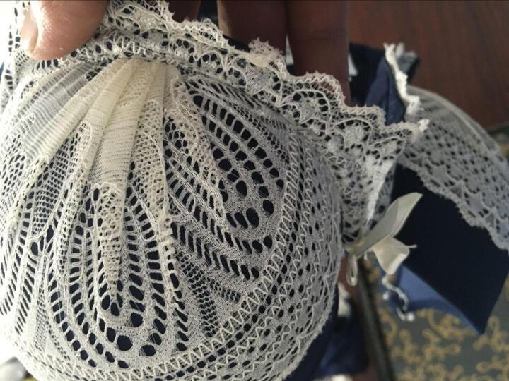 帕拉莉(PALALI)秋冬新款文胸套装聚拢薄款性感调整型双排扣蕾丝内衣 浅粉色 75B 晒单图