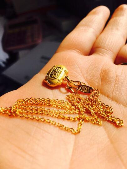 周生生 黄金项链足金十字扣圈项链黄金素链女款 09257N 计价 45厘米 - 3.26克(含工费70元) 晒单图