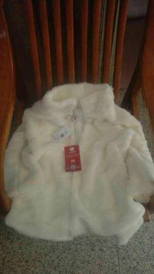 丹丽芙 皮草女中长款2018冬季皮草大衣女立领裘皮外套仿皮草 白色中长款 均码(90-130斤) 晒单图