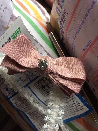 随心映海 新款韩版宝宝发饰婴儿款绸缎蝴蝶结蕾丝边发带发箍头饰 粉红色 晒单图