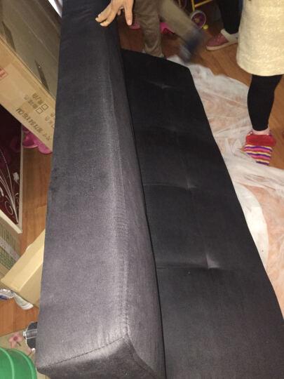 简适轩 小户型单人沙发 布艺沙发 双人沙发床折叠床 多功能折叠沙发 黑色绒布 晒单图