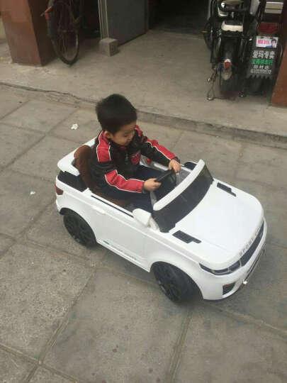宝贝虎新款加长版118A儿童电动车四轮汽车可坐带遥控玩具宝宝电动车摇摆车 橙色+拉杆+双电瓶+MP3插口+遥控+摇摆+皮座位 晒单图
